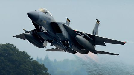 An F-15C Eagle from the 493rd Fighter Squadron takes off from RAF Lakenheath. Picture: Tech Sgt Matt