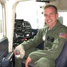 Kenneth 'Kage' Allen was the US pilot who died on Monday Picture: FACEBOOK
