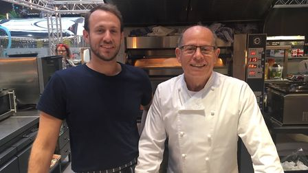 Alex and Regis Cr�py at their Am�lie fast food restaurant which closed on March 22 and is waiting to