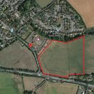 The land off Sand Hill in Boxford, where Catesby has secured outline planning permission for develop