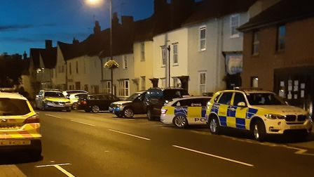 Police retrieved a BB gun from the scene and one man was arrested Picture: STUART POOLE