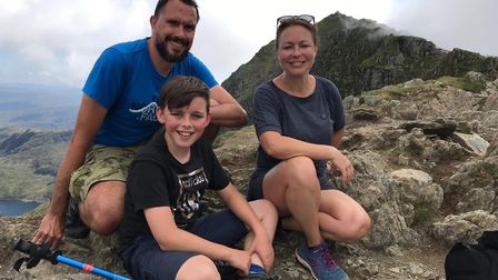 Andrew, Lisa and Isaac have fundraised in memory of Sophie since her tragic death Picture: BELL FAMI