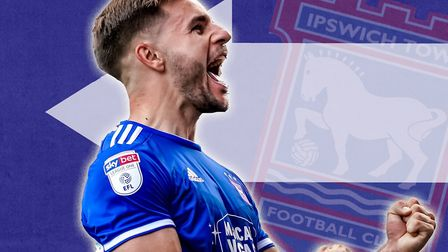 Luke Garbutt impressed during his loan spell with Ipswich Town. Picture: STEVE WALLER
