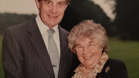 Dr Peter Franks and his wife Mrs Sheila Franks were part of the Stowmarket bell ringers and a bell h