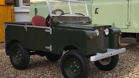 The handmade children's Land Rover model is fully working and has a Briggs & Stratton engine, workin
