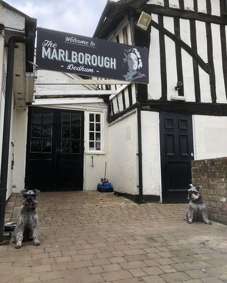 Stopping for a pint at the Marlborough Head in Dedham, Essex. Picture: GRAHAM REED