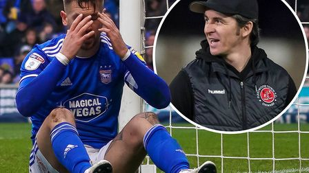 Ipswich Town's season fell away, just as Joey Barton predicted it might. Picture: STEVE WALLER