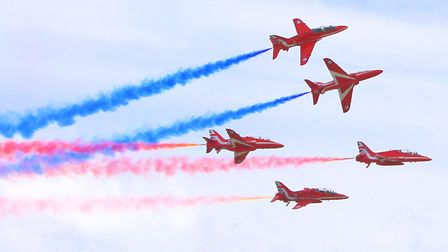 The Red Arrows at Clacton airshow Picture: LEE MARKWELL