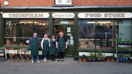Some of Coddenham's volunteers, from left, Rod Stanley- Bell, Maria Dixon, Sue Allison and Bliss Mar