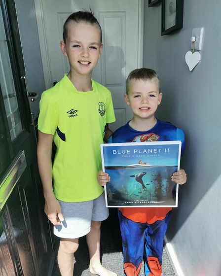 Max and Cobi Frost with their prize for 3rd place Picture: SUBMITTED