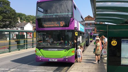From June 15 passengers boarding buses will have to wear face coverings Picture: ADAM HOWLETT