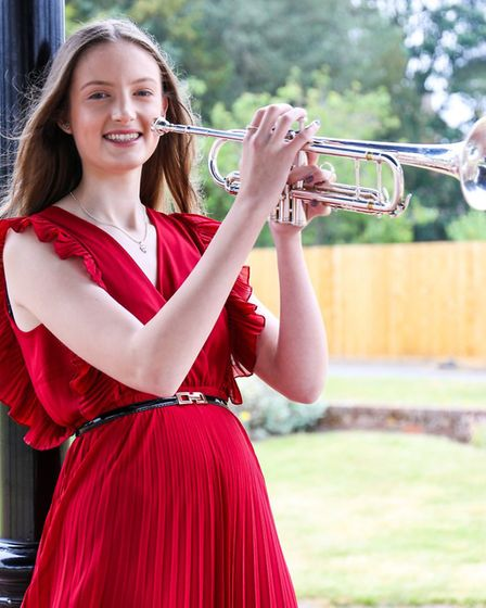 Grace Harman, 17, has her sights set on a career as a musician and already plays regularly with orch