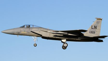 An F-15C from RAF Lakenheath has crashed into the sea on a routine training mission. The status of t
