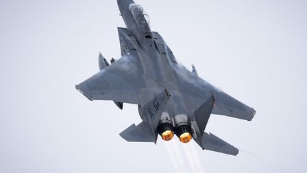 The pilot of the F-15C Eagle from RAF Lakenheath which crashed in the North Sea has died Picture:U