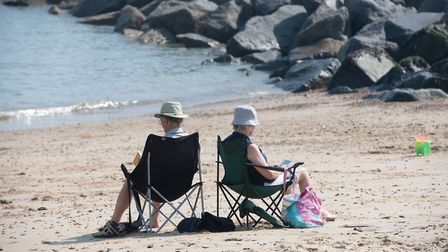 People have been enjoying Suffolk's beaches during the lockdown Picture: SARAH LUCY BROWN