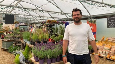 Keith Bodsworth, whose business The Potting Shed has gone from strength to strength after starting u