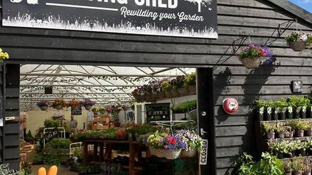 The entrance to The Potting Shed, ready to welcome and help customers rewild their garden Picture: T