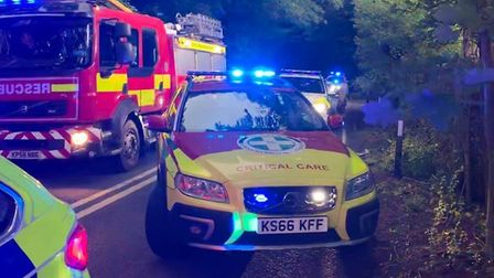 Suffolk Accident Rescue Service (SARS) attended the scene on the A143 at Horringer to support the e