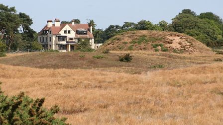 Tranmer House from the mounds at Sutton Hoo. Picture: PAUL GEATER
