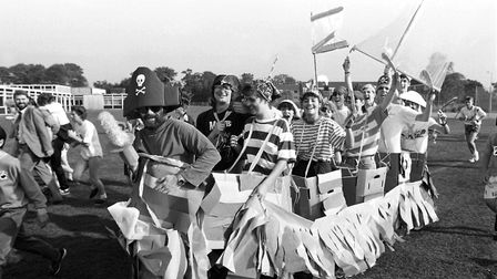 A fun run at Chantry High School, Ipswich, in October 1988 Picture: ARCHANT