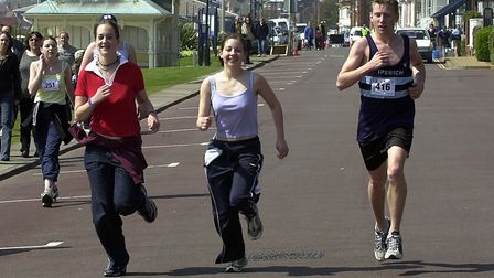 Fun runners in action at the Felixstowe Rotary road races in 2003. Picture: OWEN HINES/ARCHANT