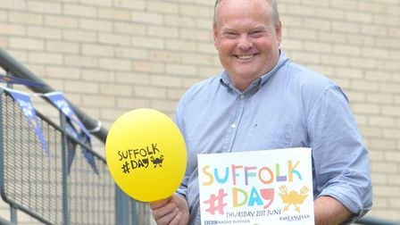 BBC Radio Suffolk's Mark Murphy is preparing for Suffolk Day 2020 Picture: SARAH LUCY BROWN