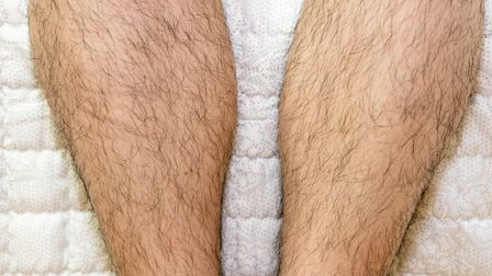 The hairy legs of another diner were a problem for one customer eating at an East Anglian pub Pictu