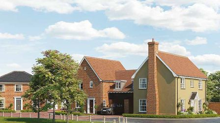 An artist's impression of what the new Hopkins and Moore development in Aldringham will look like. P