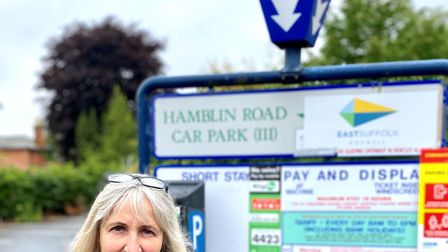 Jill Barrett is leading a campaign for free parking Picture: MICHAEL GRIST