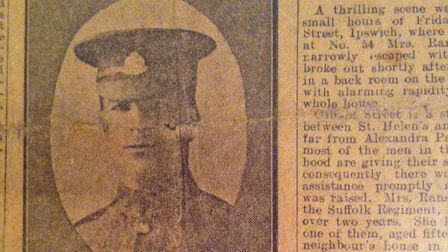 The newspaper clipping that Marian and her brother received from Edward Madder, Jim's nephew, that s