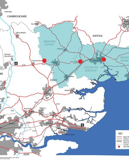 The two plans west of Colchester were found to be unsound, so more than �270million of government fu