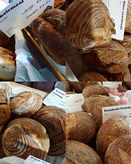 Fresh bread from Tensheds Bakehouse will return to the Sudbury farmers' market next weekend Picture: