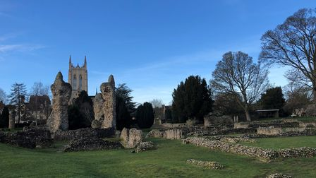 The Abbey Gardens ruins in Bury St Edmunds are one of Suffolk's best-known landmarks. Picture: MARK