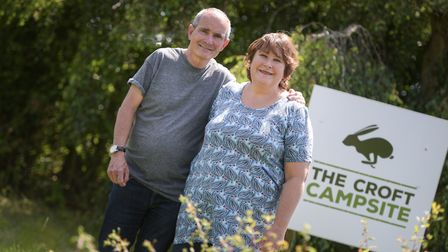 Guy and Maria Hindley, owners of The Croft Campsite Picture: SARAH LUCY BROWN