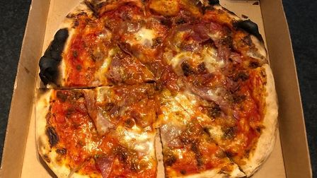 The carne pizza from Pizza Rosso