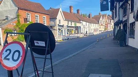 Temporary speed limits are also in place in the town. Suffolk Highways say villages and roads across