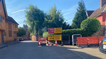 The road signs left some residents confused as there are no assoicated roadworks, just cones, signs