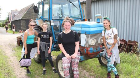 Hannah and Lilia Bennet, Dread Girl and Tannine Montgomery on the walk on Sunday June 21. Picture: G