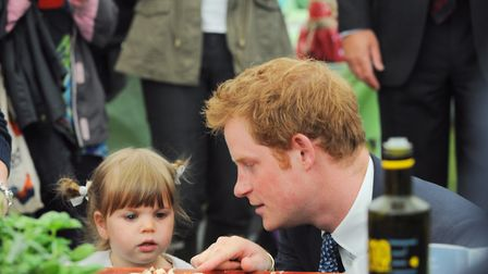 HRH Prince Harry visits the Suffolk Show in 2014 Picture: SARAH LUCY BROWN