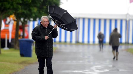 When the Suffolk Show was closed in 2012 due to high winds Picture: LUCY TAYLOR