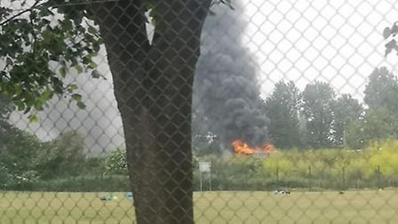 The fire service has been called to a bus fire in Felixstowe. Picture: MEGAN WILLIAMS