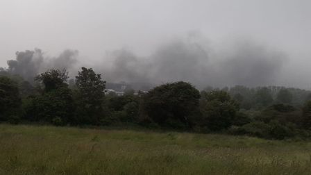 Rafferty Bowen took this photo showing plumes of smoke over Felixstowe following the bus fire. Pictu