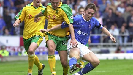 Matt Holland, pictured in action against Norwich. Picture: ARCHANT