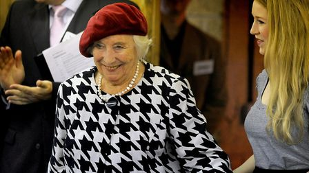 Dame Vera Lynn at the opening of the Dame Vera Lynn Trust School for Parents for Children with Cereb