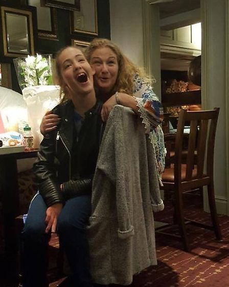 Grace with her mum Simone. Picture: WOLSTENHOLME FAMILY