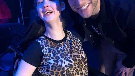 Grace with Colchester-born singer Olly Murs. Picture: WOLSTENHOLME FAMILY