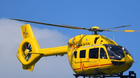 An East Anglian Air Ambulance was called to Walton High Street this evening in Felixstowe. Picture: