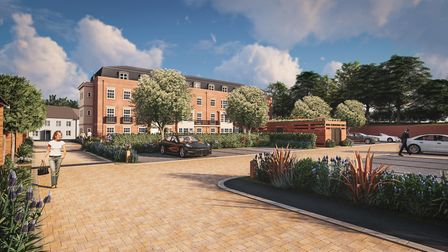 Indicative CGI images of what the Abbots Gate 66-home development could look like in Bury St Edmunds