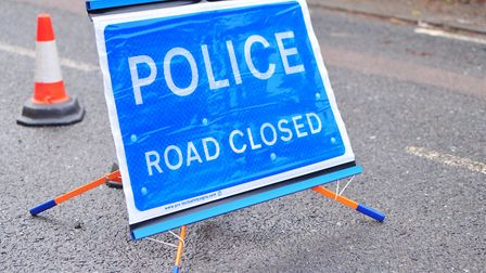 Suffolk police closed the A143 in Stradishall this afternoon due to the accident. Picture: SARAH LU
