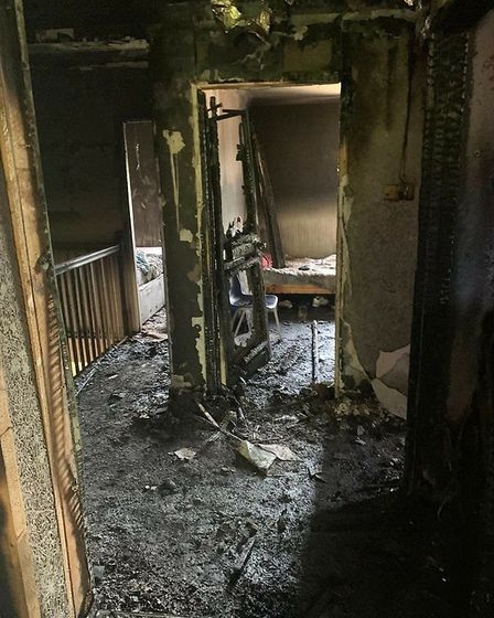 The family's home in Risby was ravaged by a fire. Picture: SUFFOLK BABY BANK